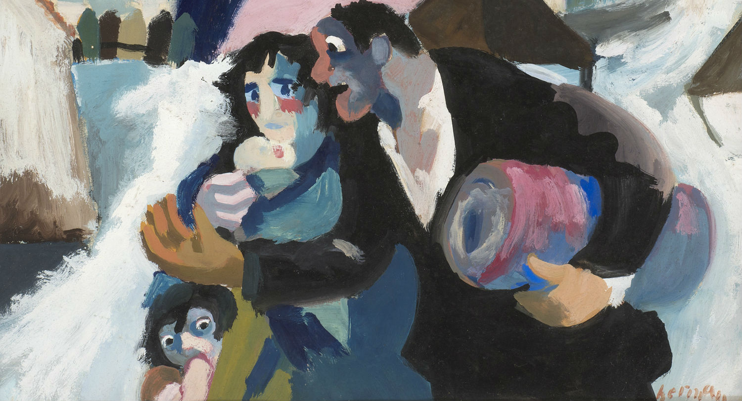 Ben Uri image: Refugees by Josef Herman (detail)