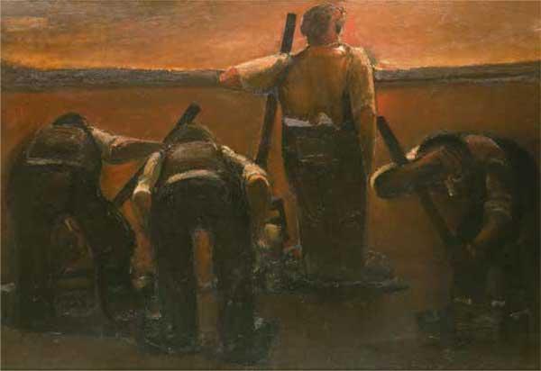 Road Gang by Josef Herman